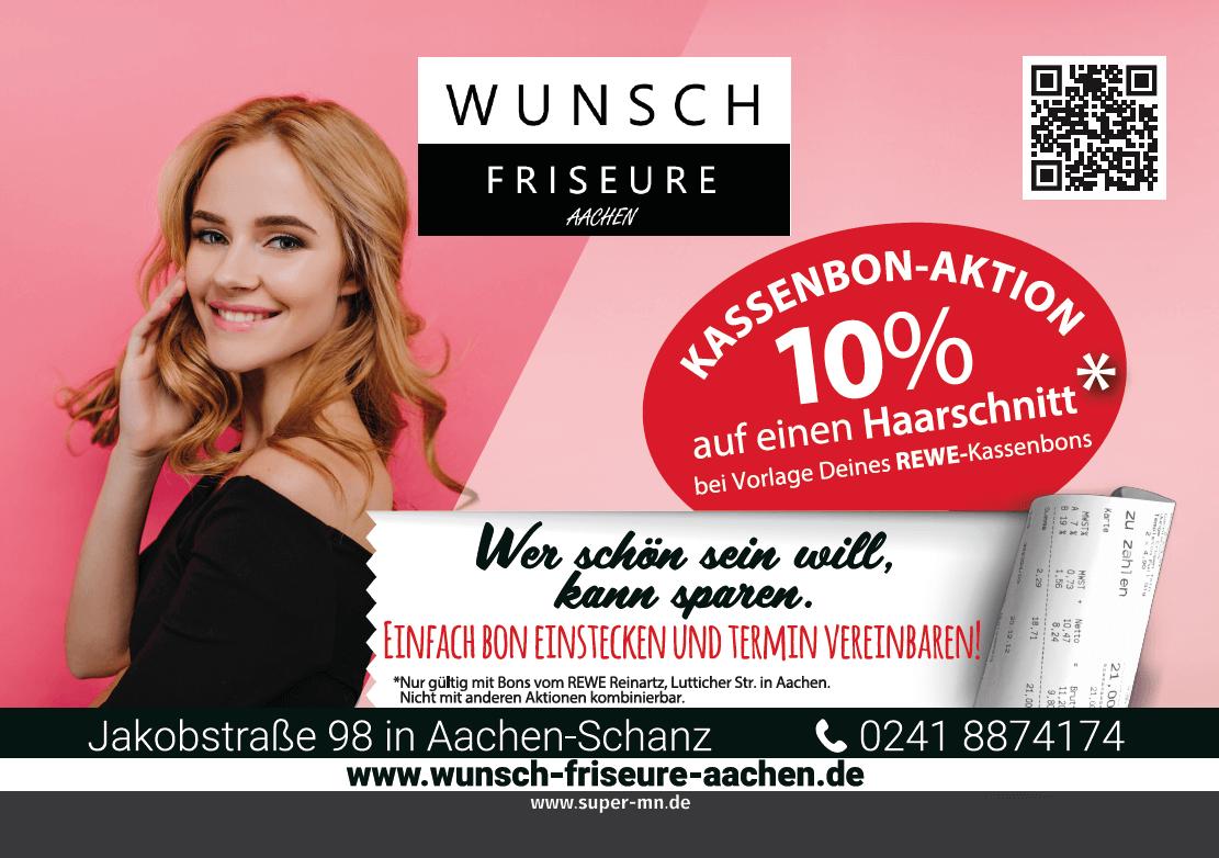 Wer schön sein will, kann sparen - Wunsch Friseure Aachen